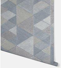 Luxe Triangle Denim Blue Wallpaper 295900 -