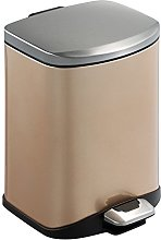 Luxin Coloured Stainless Steel 6L Pedal Bin,