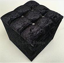 luxisleepltd Cubed Crushed Velvet 4 Diamante