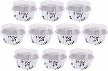 Luxshiny 10Pcs 125ml Muffin Liners Cups with Lids,