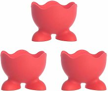 Luxshiny 3pcs Colorful Soft Silicone Egg Cup