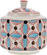 Luxshiny Ceramic Spice Jar Condiment Canister: