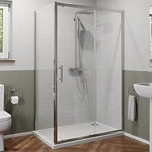 Luxura 1100 x 760mm Sliding Shower Door & Side