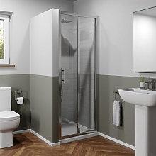 Luxura 900mm Bi-fold Shower Door - 6mm Glass