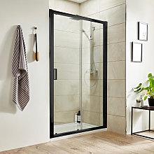 Luxura Pacific 1000mm Sliding Shower Door - Black
