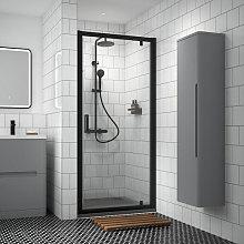 Luxura Pacific 760mm Pivot Shower Door - Black -