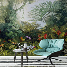 Luxuriant Garden Mural Wallpaper (SqM)
