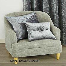Luxurious Crushed Velvet Bed/Sofa Santiago Silver