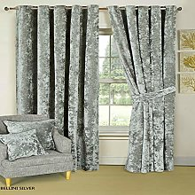 Luxurious Curtain Pair Fully Lined Heavy Crushed