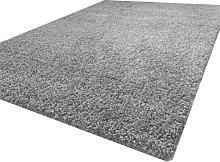 Luxurious shaggy rug - 80X150 - Silver