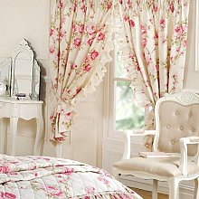 Luxurious Unlined Curtains Elizabeth Natural Size