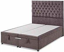 Luxury 6ft Plush Velvet Ottoman Divan Bed Frame -