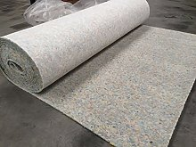 Luxury 8mm Thick PU Carpet Underlay Rolls | 11m