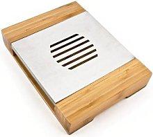 Luxury Bamboo Tea Light Plate Warmer Chafing Dish