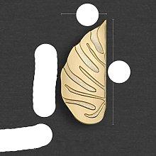Luxury Black Gold Leaves Creative Cabinet Handles