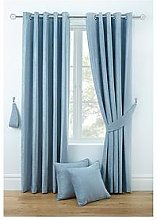 Luxury Chenille Lined Eyelet Curtains