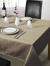 Luxury Chequers Design Tablecloth Latte 70x108