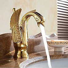 Luxury Copper hot and Cold Water taps swan Faucet