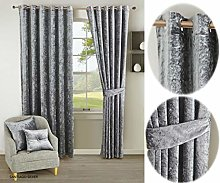 Luxury Curtain Pair Fully Lined Ready Made Ring