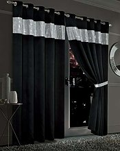 Luxury Diamante Thermal Blackout Curtains Eyelet
