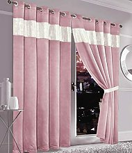 Luxury Diamante Thermal Blackout Curtains Eyelet