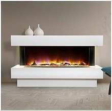 Luxury Electric Fireplace Suite White Fire Heater