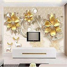 Luxury European Jewelry Flower Photo Wallpaper
