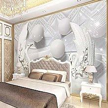 Luxury European Style swan Soft Ball Mural