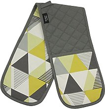 Luxury Geometric Patterned Double Oven Gloves -