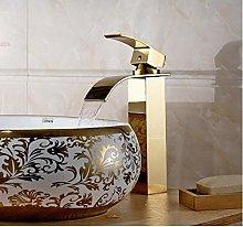 Luxury Gold Bathroom wash Basin Faucet/Modern