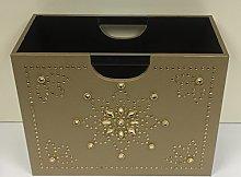 Luxury Gold Magazine Rack Storage Basket -