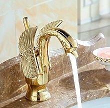 Luxury Gold Plated Swan Model wash Basin