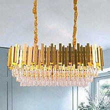 Luxury K9 Crystal Pendant Light,Oval Crystal