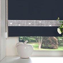 Luxury Living Diamante Navy Roller Blind 120x165cm