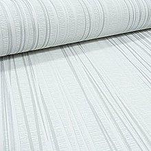 Luxury Metallic Silver Grey Wave Stripe Wallpaper