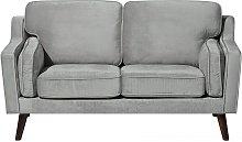 Luxury Modern 2 Seater Sofa Upholstered Velvet