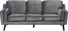 Luxury Modern 3 Seater Sofa Upholstered Velvet