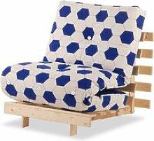 Luxury Natural Pine Wood Metro Futon Sofa Bed