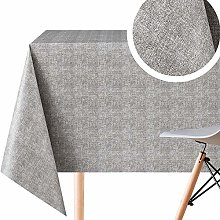 Luxury Plain Grey One Tone Wipe Clean Tablecloth -