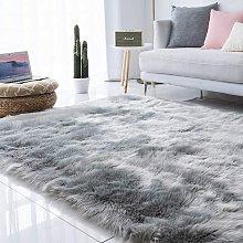 Luxury Soft Faux Sheepskin Fur Area Rugs for