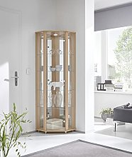 Luxury Space Corner LED Glass Display Cabinet- In