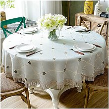 Luxury Table Cloth Round Table Cover Leaves
