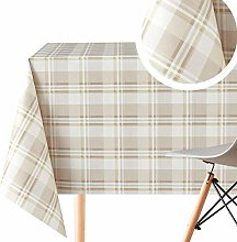 Luxury Tartan Pattern Wipe Clean Tablecloth -