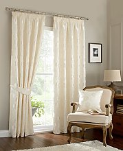 Luxury traditional vintage curtains natural ivory