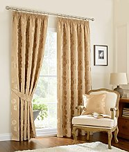 Luxury traditional vintage curtains rich gold 66 x