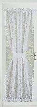 Luxury Victorian Lace Floral Net Door Curtain