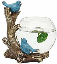 LUYIYI Bird Fish Tank Decoration, Resin Animal