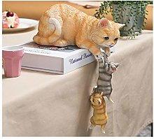 LUYIYI Cat Resin Ornaments, Animal Crafts, Living