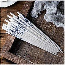 LUYIYI Ceramic Chopstick Set 10 Pairs of Chinese