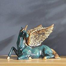 LUYIYI Luxurious Fairy Horse Sculpture Home